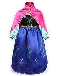 Petites Filles Princesse Anna Manches Longues Robe Costume