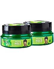 Set Wet Vertical Hold Hair Styling Gel for Men, 250 ml (Pack of 2)