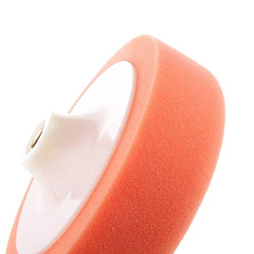 Magideal 6 inch Washing Cleaning Polishing Sponge Buffing Pad of Car/Metalware Orange