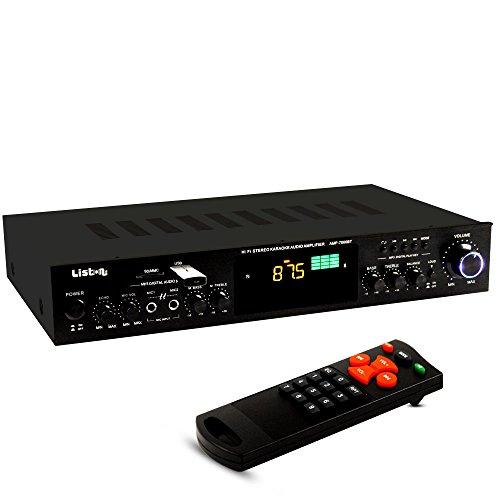 WJG Industrievertretung HiFi Verstärker FM Radio Tuner USB SD MP3 AUX Bluetooth Fernbedienung Mikrofoneingänge Receiver