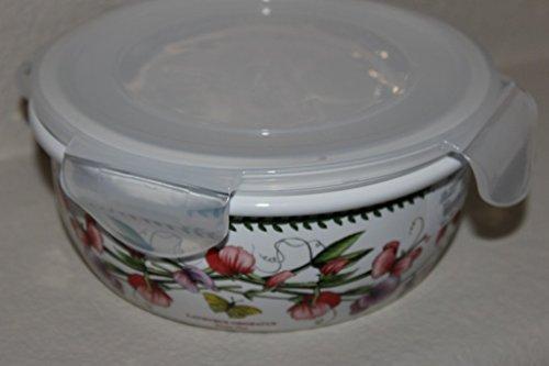 Portmeirion Botanic Garden Round Ceramic Storage Jar with Locking Lid, 5 Inch by Portmeirion Botanic Garden Storage Jar