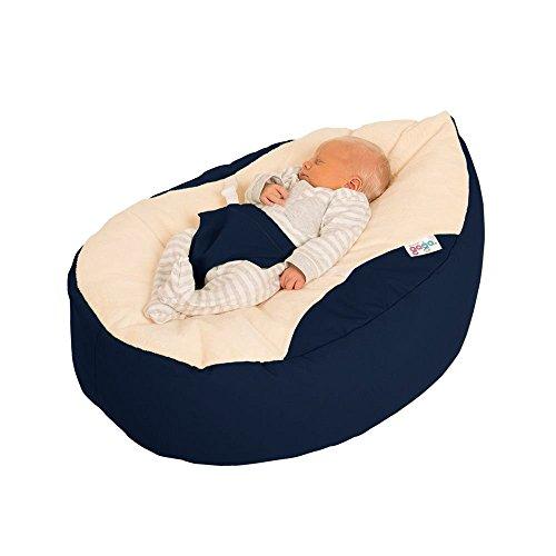 rucomfy Sitzsack Luxury Cuddle Soft Gaga Baby Sitzsack (Marineblau)