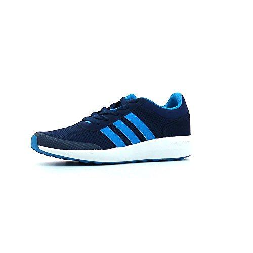 adidas Cloudfoam Race K, Chaussures de Tennis Mixte Enfant Bleu (Azumis/azusol/ftwbla)