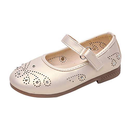 Berimaterry Sandalias de Vestir Niña Moda Zapatos Bebe Niña Verano Zapatos de Cuero Niña Corona Zapatos...