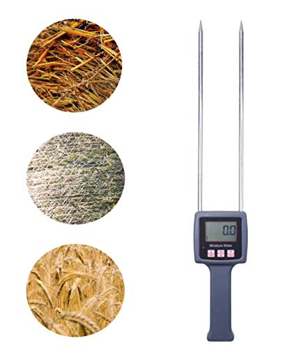 Huanyu Hay Moisture Meter Erntewassermessung 0 bis 80% Feuchtemessgerät mit umfangreicher Sonde für Getreidestroh/Kleie/Futtergras/Leymus Chinensis/Kaiserbambusgras in Farm TK100H -