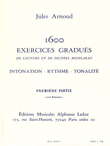 1600 EXERCICES GRADUES DE LECT ET DICTEES/VOL 1:1000 EXERCICES(VERSION FRANCAISE) par ARNOUD