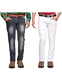 American Noti Multi Denim Faded Stretchable Skinny Fit Cotton Lycra Jeans Combo-Pack Of 2