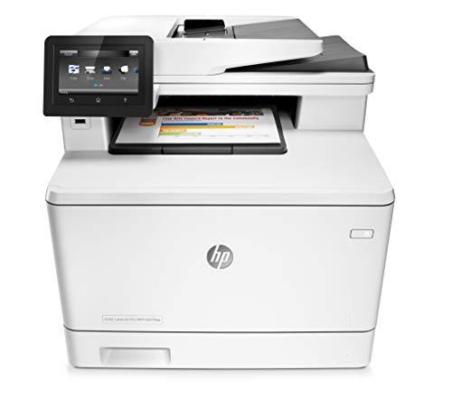 HP Color LaserJet Pro M477fnw Farblaserdrucker Multifunktionsgerät (Drucker, Scanner, Kopierer, Fax, WLAN, LAN, ePrint, Airpint, USB, 600 x 600 dpi) weiß