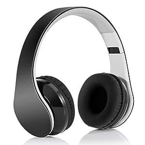 Headphone Bluetooth 4.1 Pieghevole, Cuffia Bluetooth stereo Hi-fi con 3.5 mm jack e ruduzione del rumore per iPhone 7s plus/7s,iPhone 6s plus/6s, iPhone 6/6 Plus, iPhone 5s/5c/5/4s, iPad, LG G2, Samsung Galaxy S6 Edge+/S6 Edge/S6/ S5/S4/S3, Note 4/Note 3/Note 2, Sony, Huawei ed altri Smartphone
