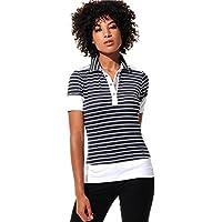 MDC Meryl Print Polo Camiseta Black 34