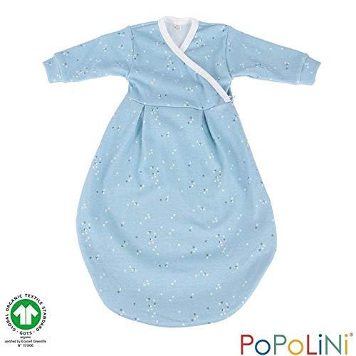 Popolini Felinchen Schlafsack Bio-Baumwolle (Splinter blau, 50/56)
