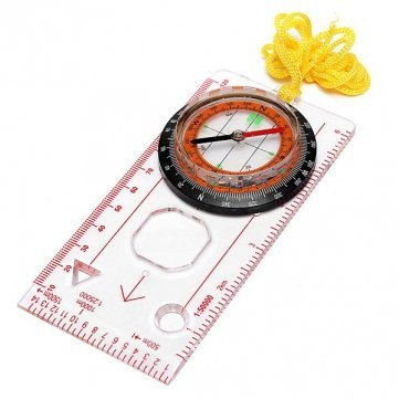 Ungfu Mall Außen Bauplatte Lineal Map Scale Compass Scouts Camping Wandern Kit