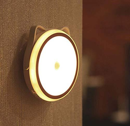 Cat Ear Bed Nachtlicht, kann USB-Nachtlicht montiert Werden, geeignet für Familienschränke Bedside Korridor Veranda, 600-1000 Mah 0,6 W, einstellbare dreistufige Helligkeit,charging1000mah -