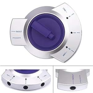 HDE Câble Fibre Optique Toslink audio numérique bidirectionnel Sélecteur 3voies