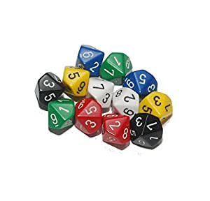 10-sided dice (Pack of 12)