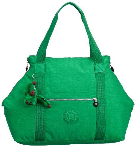 Kipling ART M K0136240E, Damen Henkeltasche, 58x32x21 cm (B x H x T) Grün (Cactus Green)