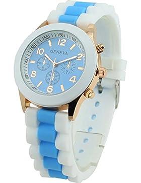 psfy Damen Geneva Silikon Band Jelly Gel Quarz Armbanduhr