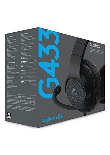 Logitech G433 Kabelgebundene Gaming Kopfhörer (7.1 Surround Sound, für PC, Xbox One, PS4, Switch, Mobiltelefon) schwarz - 15