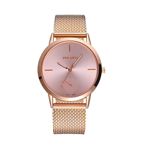 Preisvergleich Produktbild EARS DamenUhr Woman Fashion Casual Denim Strap Analog Quartz Round Watch Watches Uhr Fashionable Modische hohe Härte Glasspiegel Männer und Frauen allgemeine Mesh Gürtel Uhr (B)