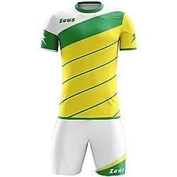 Zeus Kit Lybra Equipaciòn para el Fùtbol y el Voleibol Para Hombre Sport Pegashop Colour Amarillo-Verd-Blanco (M)