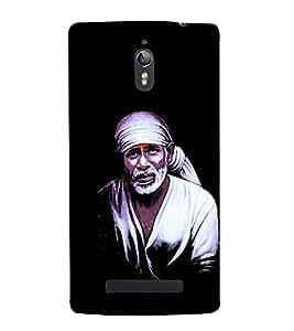 Shirdi Sai Baba 3D Hard Polycarbonate Designer Back Case Cover for Oppo Find 7