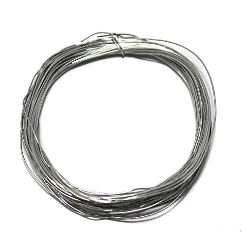 Beadsnfashion Brass Craft Wire DIY For Jewellery Making & Crafts Work Silver, 10 Mtrs, 28 Gauge Thick (0.36 mm)
