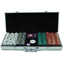 Trademark Poker 500 13-Gram Pro Clay Casino Chips with Aluminum Case
