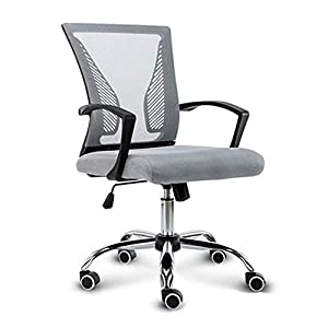 RUNXIAN Silla Silla de ordenador de recepción, ergonómico ajustable respirable del acoplamiento Silla de oficina Negro elevable Inicio giro de 360 grados respaldo alto neto silla de trabajo Ejecutiv