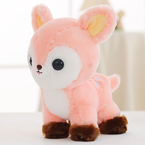 WYQLZ Dessin animé mignon faon bébé peluche enfant sika poupée de cerfs ( Couleur : Rose , taille : 25cm )