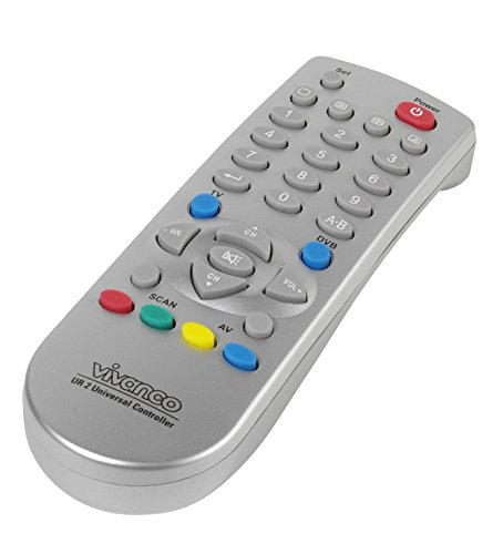 Vivanco Universal 2in1 TV/DVB - Mando distancia universal