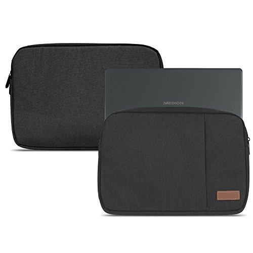 Medion Akoya E3222 E3223 Hülle Notebook Sleeve Tasche in Schwarz oder Grau Laptop Schutzhülle Case Cover Etui, Farbe:Schwarz