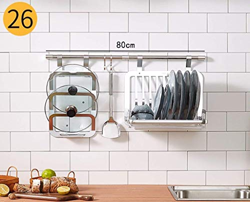 YLJYJ Pot & Pan Rack-Besteck Aluminium Stahl Küchenregal Wandhalter