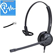 Telephone Headset for Office Landline Phones with Noise Cancelling Microphone Call Center Phone Headset for Pl