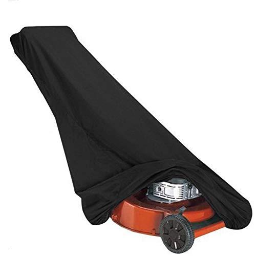 AHGX-Cover Gartenmöbel Abdeckung Schutzhülle, Draussen Rasenmäher Staubschutzhaube, Wasserdicht Anti-UV, Das Ganze Jahr Über Verfügbar,Black,48 * 18.5 * 13.5Inches