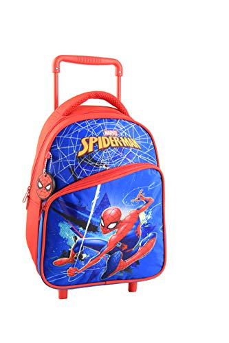 Jacob & Co. Trolley Backpack Spiderman - Mochila Infantil 38 cm, Color Azul