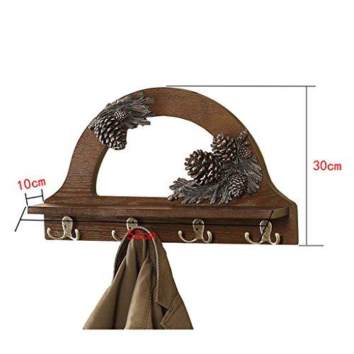 RACK Wandgarderobe, Wandgarderobenhaken , 4 Hardware-Haken, Schlafzimmer Wohnzimmer Eingang Kreativität Continental Wandgarderoben Aus Massivem Holz.