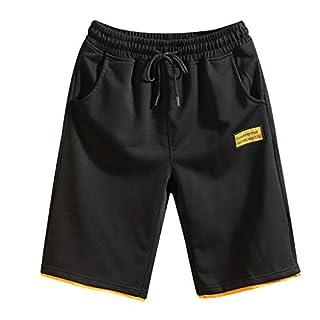 TTLOVE_Herren Pure Color SpleißEn Shorts Arbeitsshorts Outdoor Sommer Freizeit Kurze Hose Multi-Pocket Overalls Fashion Pants(Gelb,XXXXL)
