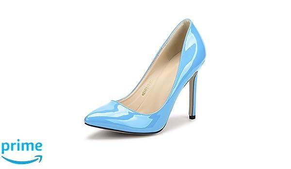 OCHENTA Damen Pumps Sexy Stiletto High Heels Klub Modisch ohne Verschluss Kleidschuhe #11 Pfirsichrot Asiatisch 35/EU 35 bFlZniO3