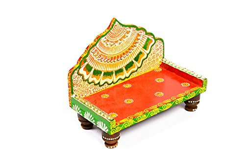 Decorative Wooden Handicraft Wall Hanging Ganesha Designs by Shree Sugandh for Decorations / Gifts / Interior (Light orange)  available at amazon for Rs.299