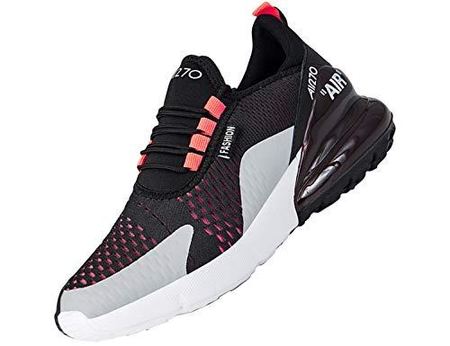 SINOES Femme Homme Chaussure de Sport Basket de Running Fitness Course Sneakers Basses Blanc 47 EU