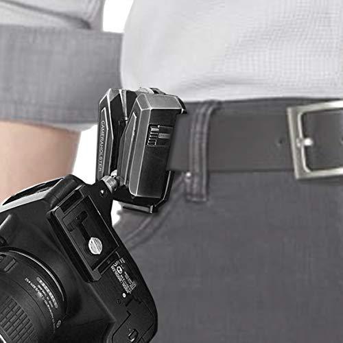 Lynca Clip - 100% Metall, äußerst robust und sicher - Kamera Halter Clip für Gürtel und Rucksack.