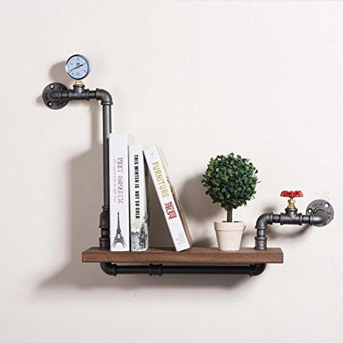 BaBiStory Loft American Country Style DIY Buch Regale Eisen Wand Regal Bücherregal Regal Kunst Ausstellung Regal Wasser Rohr Regale