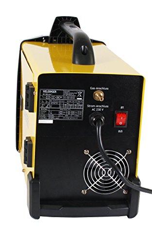 MIG-MAG Schutzgasschweißgerät / Schweißinverter ME 200eco von WELDINGER 200A auch Elektrodenschweißen möglich