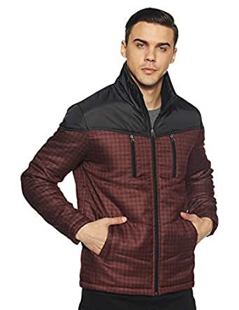 Endeavor Men's Quilted Jacket (18119-Mr_Maroon_Medium/96 cm)