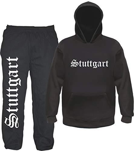 sostex Stuttgart Jogginganzug - Altdeutsch - Jogginghose und Hoodie M Schwarz
