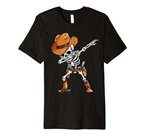 Dabbing Skelett T Shirt Halloween cowboy Kinder ()