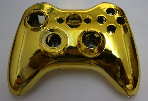 Xbox 360 Chrome Gold Replacement Controller Shell with ...