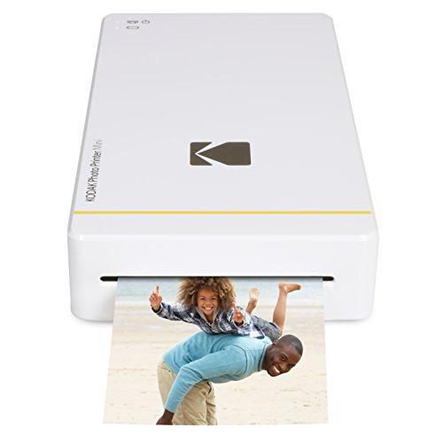 Kodak Mini-Mobil W-LAN & NFC 4.7 x 7,5 cm Fotodrucker mit fortgeschrittener Sublimations-Tintendrucktechnologie & Fotokonservierungsschicht (Weib) Kompatibel mit Android & iOS.
