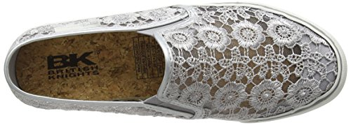 British Knights Cara Damen Slipper Silber (Silver-Soft Pink 03)