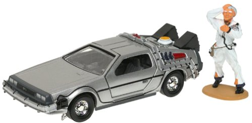 Click for larger image of Back to the Future -- DeLorean with Doc Brown Figure